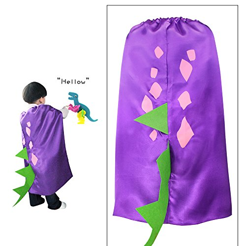 Toddler And Kids Spike The Dragon Costumes (iROLEWIN Dinosaur Dragon Cape - Pretend Cosplay Animal Dress Up Costumes - Kids,Toddler (Purple Dino Cape))