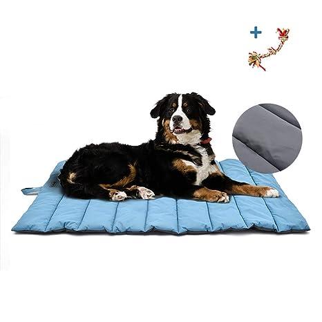 XIAPIA - Cama Impermeable para Perro,cojín Perro Lavable,cojín con Cuerda de Juguete, Mascota colchón, portátil, a Prueba de arañazos, Antideslizante ...