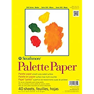 Strathmore 365-9 300 Series Palette Pad, 9″x12″ Tape Bound, 40 Sheets