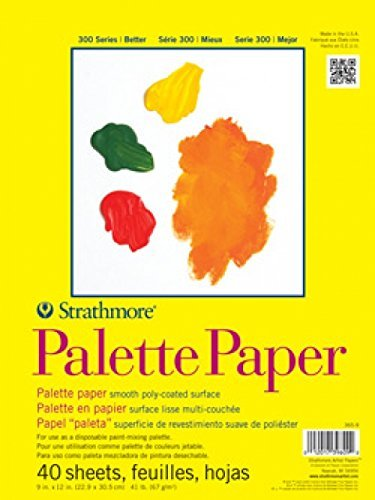 Strathmore 365-9 300 Series Palette Pad, 9'x12' Tape Bound, 40 Sheets