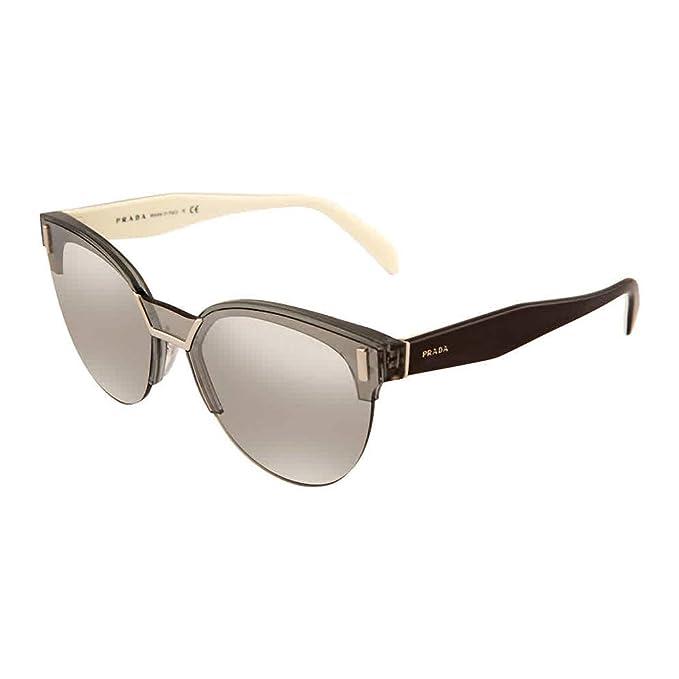 Amazon.com: Gafas de sol Prada PR 4 US 2831A0 TRANSPARENTE ...