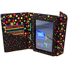 Fashion Tec Bright Multi Dots Kindle Fire Protective Case Cover with Stand, Includes Stylus and Screen Cleaner Cloth - Fits Kindle Fire (Does Not Fit Kindle Fire HD)