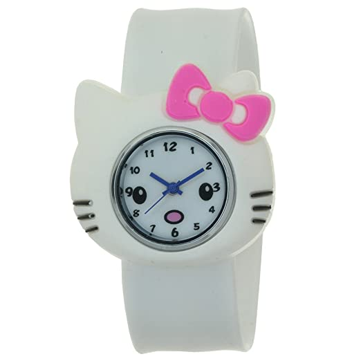 TimerMall Hello Kitty Shape Cartoon Watches With White Band Cute style
