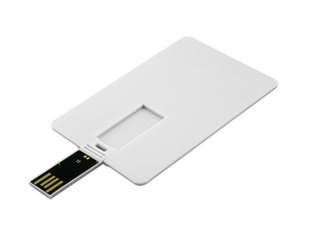 Aneew - Memoria USB, diseño de tarjeta de crédito, color negro (16.00 GB)