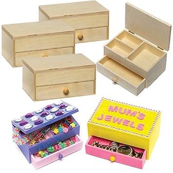 Baker Ross Boîtes à Bijoux En Bois Que Les Enfants Pourront Décorer