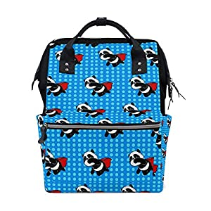 Ahomy Baby Changing Bag Backpack, Superman Panda Dot Mummy Nappy Diaper Bag Baby Travel Backpack
