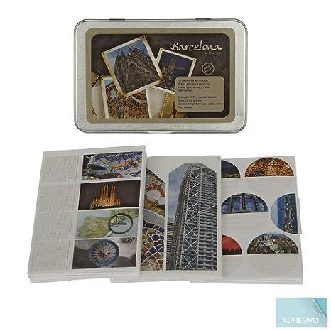 Portico - Caja pegatinas barcelona