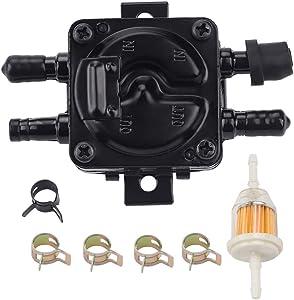 Hipa 149-1982 Fuel Pump Compatible with Onan 149-2187 149-2187-01 P216G P218G P220G P224G B43E B48G B48G B43 B48 P218 P220 John Deer AM107870 F910 F930 14 70 90 116 116H 316 318 420 Lawn Mower