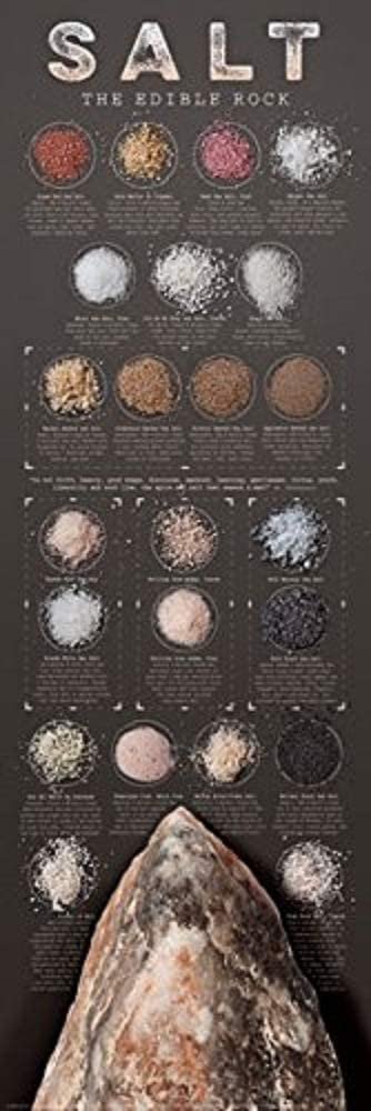 Picture Peddler Salt The Edible Rock by Ziegler & Keating Kitchen Cooking Print Poster 12x36