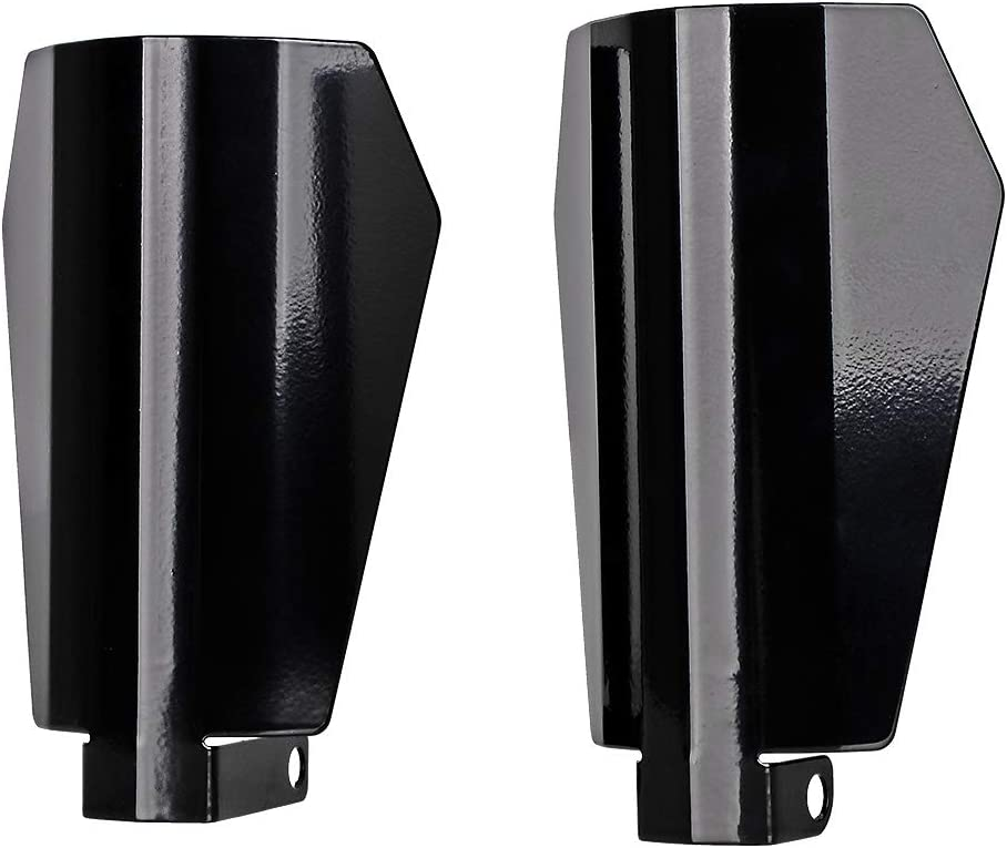 Black Customs Stainless Steel Coffin Cut Hand Guards Handguard Compatible with Harley FXRs Baggers Models 07-UP Electra Street Road Glide Road King baggers Large