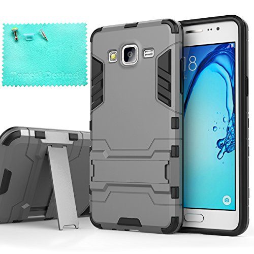 Click to buy Samsung Galaxy On5 Case,Moment Dextrad Stand Ultra-Thin Lightweight Premium Dual Layer Armor Defender Shock Absorption protective Case Cover for Samsung Galaxy On5/G550 (Gray) - From only $4.99