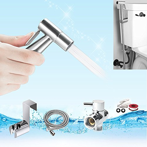 Great Deal! Hand Held Bidet Sprayer, YECO Cloth Diaper Sprayer Shattaf Kit -Premium Stainless Steel ...