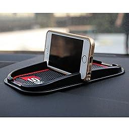 COGEEK Car S line Non-slip Mat Dashboard sticky pad Anti-slip Mat Holder For Car Phone GPS (red)