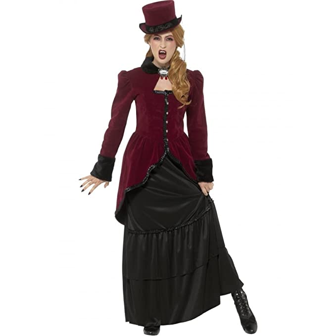 Victorian Costumes: Dresses, Saloon Girls, Southern Belle, Witch Deluxe Victorian Vampiress Costume $60.61 AT vintagedancer.com