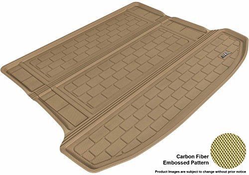 3D MAXpider Cargo Custom Fit All-Weather Floor Mat for Select Cadillac SRX Models - Kagu Rubber (Tan)