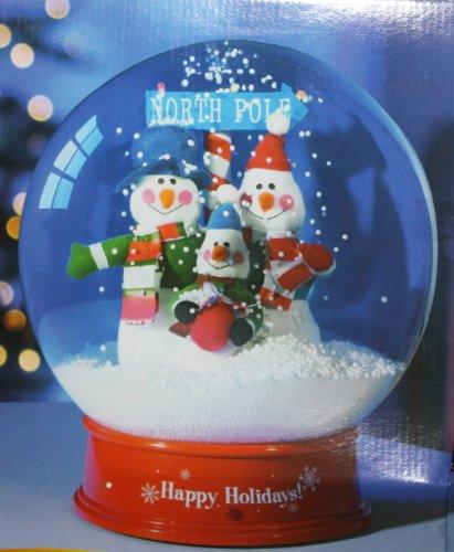 amazoncom christmas musical snow globe 11 inches tabletop home kitchen - Christmas Musical Snow Globes
