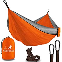 Double Portable Camping Hammock - Parachute Lightweight...