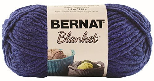 (Bernat Blanket Super Bulky Yarn, 5.3oz, Guage 6 Super Bulky, Navy)