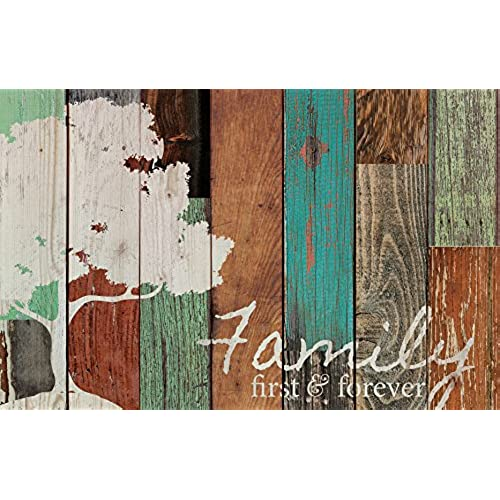 Family First U0026 Forever Multicolor Tree Rustic 16 X 24 Wood Pallet Design Wall  Art Sign