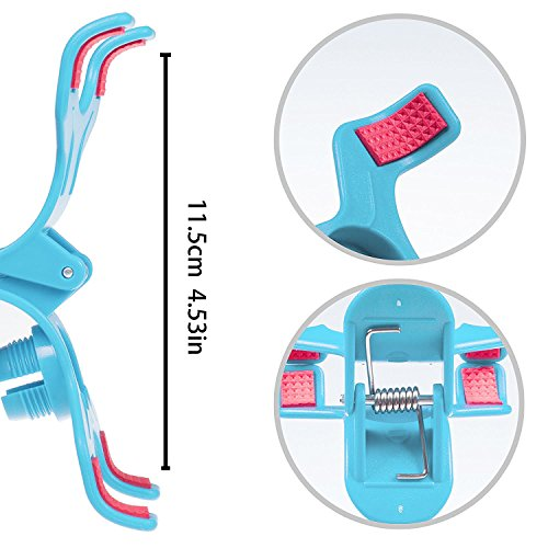 ITART Plastic Flexible Long Arms Gooseneck Clip Clamp Stand Universal Cell Phone Holder - Blue