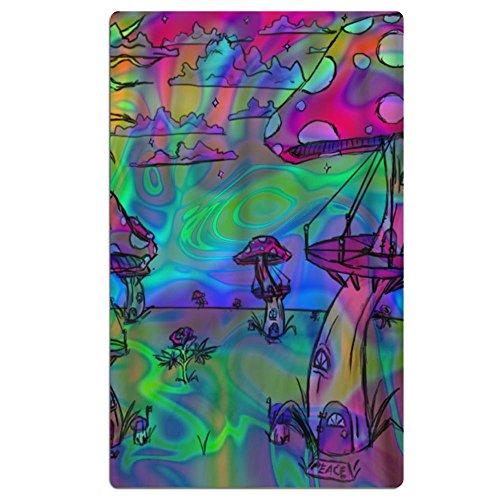 FSKDOM 100% Cotton Plush Psychedelic Trippy Mushroom Oversiz