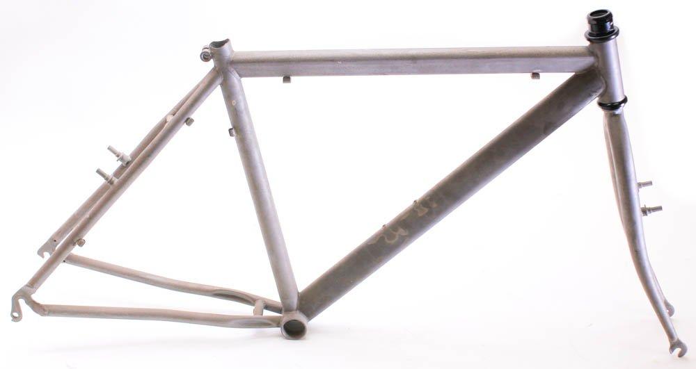 Italian RAW Steel 19'' MTB Bike Hardtail Frame 26'' Rim Brake Unpainted NEW