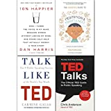 Headspace Guide to Mindfulness & Meditation, 10% Happier, Talk Like TED, TED Talks 4 Books Collection Set