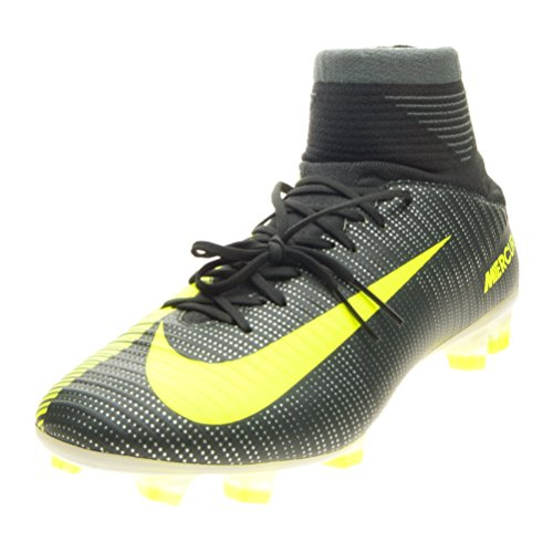 Nike Mercurial Veloce III DF CR7 FG Mens Football Boots 852518 Soccer Cleats (US 11, Seaweed Volt Hasta White 376)