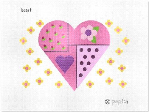 Pepita Heart Needlepoint Canvas ()