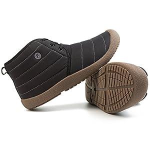 JIASUQI Men's Classic Walking Boots Hiking Outdoor Anti-Skid Booties Black 11 M US