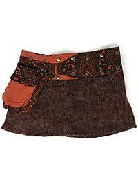 Wool Short Snap Wrap Skirt Fair Trade Fits Sz S M L XL 1X