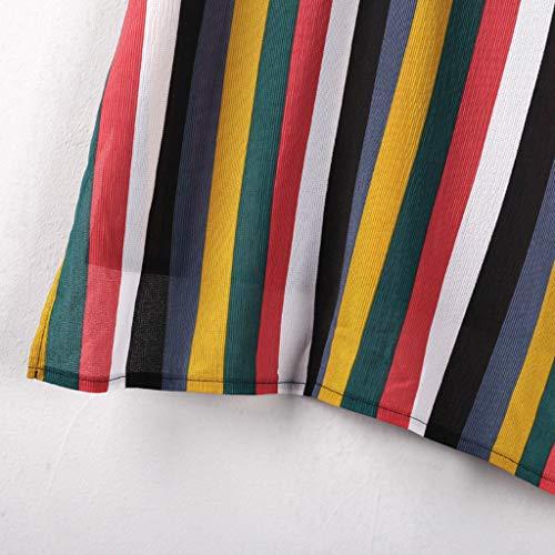 8cdbbc3d86 Euone Tops Clearance Sales, Fashion Womens V-Neck Short Sleeve Rainbow  Printing T-shirt Blouse Tops