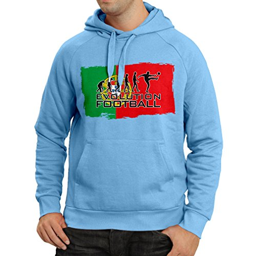 fan products of N4475H Hoodie Evolution Football - Portugal (Medium Blue Multicolor)