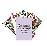 beatChong True Words Change World Buddha Quote Poker Playing Card Tabletop Board Game Gift
