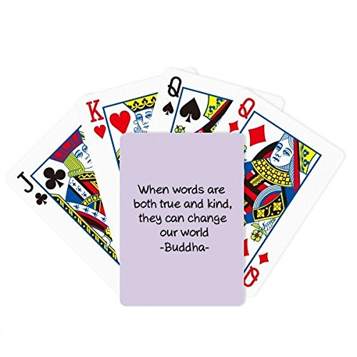 beatChong True Words Change World Buddha Quote Poker Playing Card Tabletop Board Game Gift by beatChong