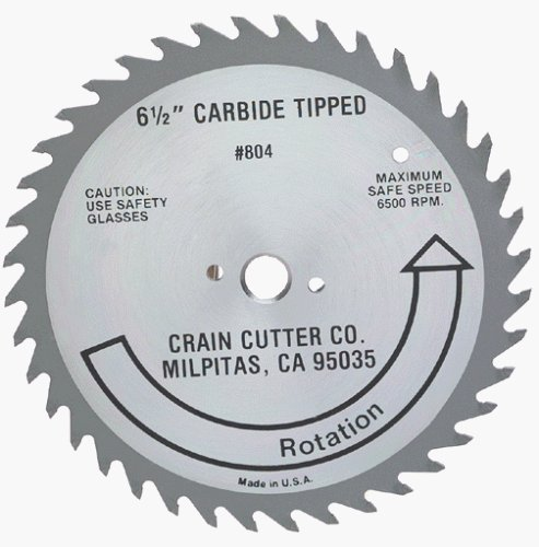 Crain Cutter 804 6-1/2-Inch 40 Tooth Wood Saw Blade with 5/8-Inch Arbor for 810 SuperSaw by Crain Cutter