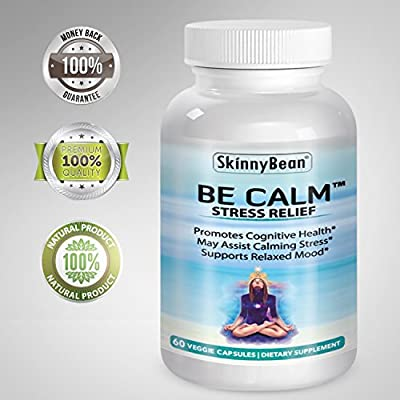 Skinny Bean® BE CALM™ Stress relief formula anxiety supplement