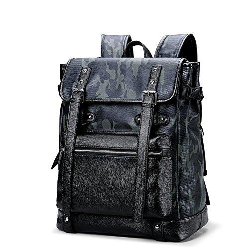 Borse Sacchetto Zaini Del Il Camuffamento Business Libero Tempo Doppio Spalla Di Bag Per Moda Pelle Computer In c Uomo C AxIgn4I