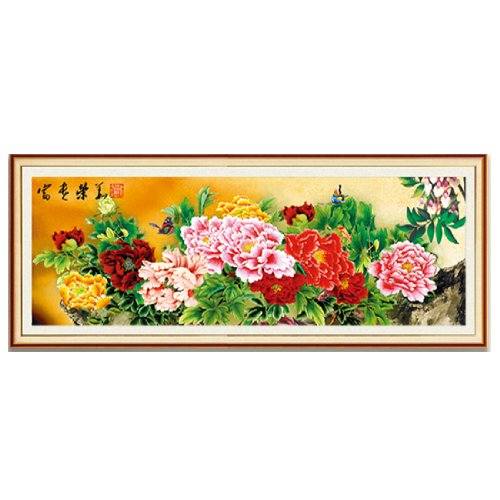 The Prosperity Chinese Peony 3d Cross Stitch Kit - 58.3inch By 20.1inch