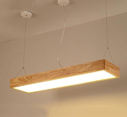 GFFORT lámparas de techo de madera japonesa alargada barra ...