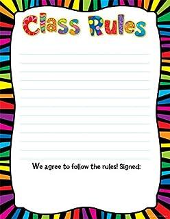 amazon com carson dellosa class rules blank chart 6378 themed
