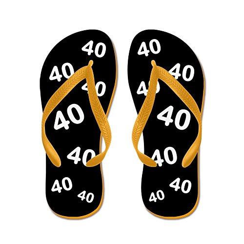CafePress Black 40Th Birthday Gag Gift - Flip Flops, Funny Thong Sandals, Beach Sandals