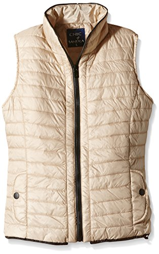 Vest para Quilted Beige Mujer Chaleco TANTRA aZFpP1n