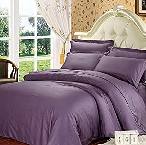 Benbu High End Fashion Bedding Purple Solid Color Cotton Soft And Comfortable