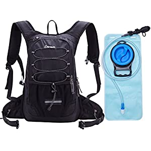 2L 70Oz Black Running Hiking Bike Cycling Water Hydration Pack for Men Women