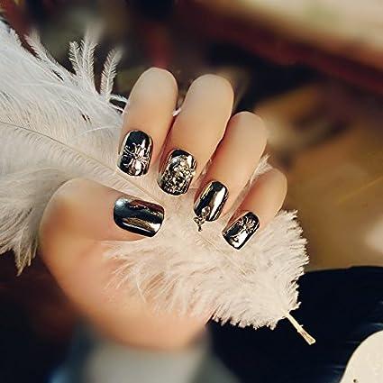 mimei 24 piezas uñas postizas para mujeres niñas regalo de accesorios para Festival de Navidad