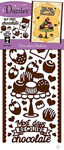 Hot Off The Press Chocolate, Brown/Clear Foil Dazzles Stickers (Hot Off Press)