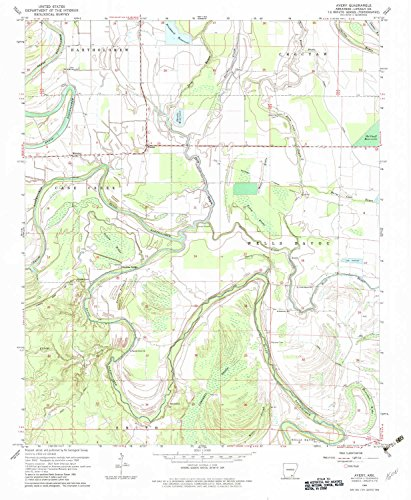Avery AR topo map, 1:24000 scale, 7.5 X 7.5 Minute, Historical, 1964, updated 1983, 26.8 x 22 IN - - Fresno Park River