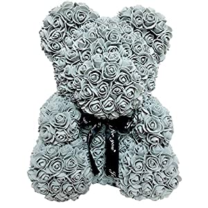 Homentum Rose Bear Teddy Forever Artificial Flowers are The Best Gifts for Valentine's Day, Anniversaries, Birthdays, Weddings 97