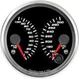 Speedhut GR33-D-FP01OT02 Dual Gauge - Fuel psi, Oil Temp, 3-3/8''